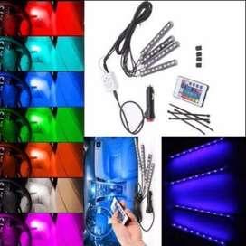 Lampu LED Kolong Mobil Dashboard Multicolor RGB Remote