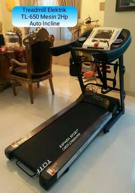 Treadmill Big Elektrik 3 Fungsi TL-650 Auto Incline Mesin 2Hp