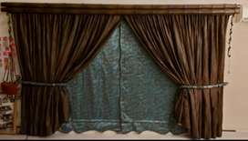 Designer made curtains with blinds