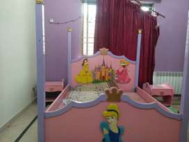 Barbie bed with side table