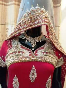 Wedding Dress Red Color and Golden color combination