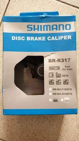 CLARK ROTOR & Shimano Disc Brake Caliper BR-R317 SM-MA-F160P/S