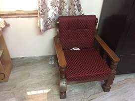 Wooden sofa 5 seater(3+1+1)
