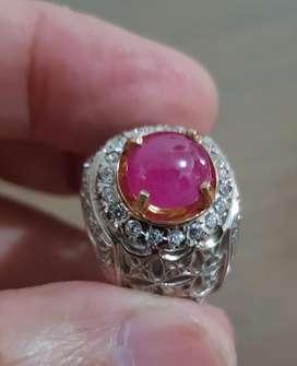 Batu Natural Ruby (Corundum)