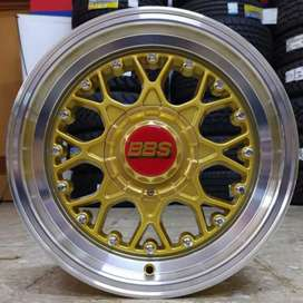 VELG BBS 15X7,5/8,5 H8X100/114,3 AVANZA DATZUN BRIO AGYA SWIFT MARCH