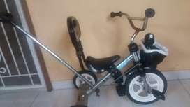 Sepeda anak roda tiga PMB tongkat stir dan jagaan