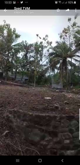 22 cent plot with compound wall for long term lease in kazhakoottam