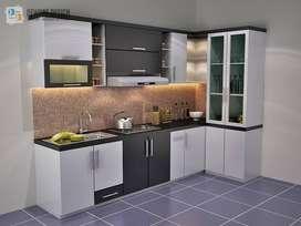 kitchen set DAP multiplek keren minimalis lemari meja kursi