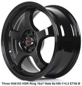 wheel THREE 56103 HSR R16X7 H8X100-114,3 ET40 BLACK