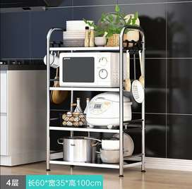 Kitchen appliances storage rack steel for oven and other