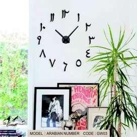 Jam Dinding Besar huruf Hijaiyah