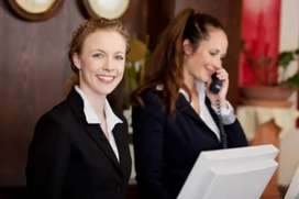 Receptionist girls requirements