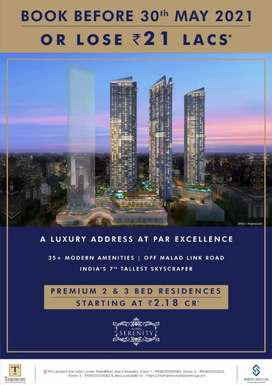 Auris Serenity, All slab constructed, 2 bhk in 2.35 cr all in