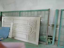 Sliding doors with glass