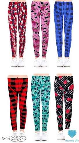 Pack of 6 Girls pajama leggings