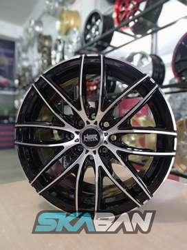 jual hsr wheel ring 15 h8(100/114,3) black polish di ska ban pekanbaru