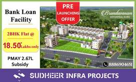 2BHK @ 18.5*L in @ ELURU: Hurry Up..! Loan vth PMAY 2.67L..