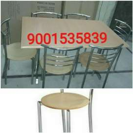 Newwww six seater ss restaurant furniture ss table with six chair