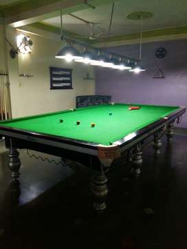 Steelcushion snooker table tournament