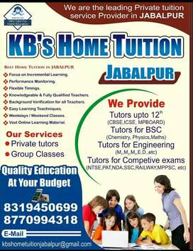 Home tutor required.