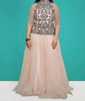 Designer evening gawn & lahnga