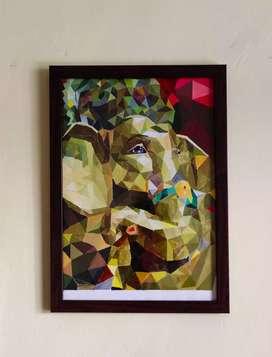 Beautiful framed Ganpati painting