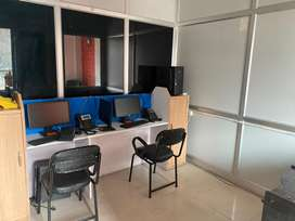 This is 220 sqft fully furnishd office avilable for rent in rajpur roa