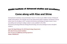 Come along with Rise and Shine(online coaching classes)