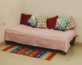 Single bed with brand new cotton mattress, Solid wood