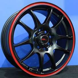KAMIKAZE 11033 R15x65 Lubang8 SMB/RR - HSR Velg/Pelek Mobil Import