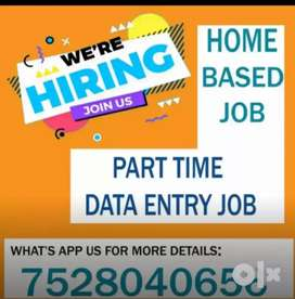 Data entry part time jobs for fresher's in job