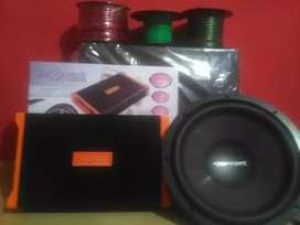 Grosir: Power 4 Chnl+Subwoofeer 12 inchi+Box sub mdf+Instalasi+Psang