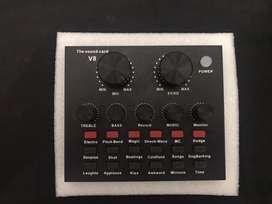 DIJUAL!! Live Soundcard / Mini Mixer Wired Condenser Microphone