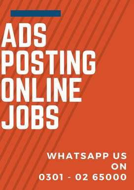 We are offering ads posting online job for student with weekly payment
