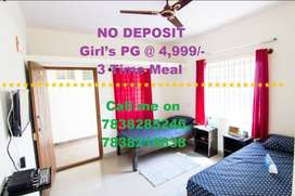 00 Deposit,00 Brokerage,3 Tm Meal, girls PG with AC or cooler room