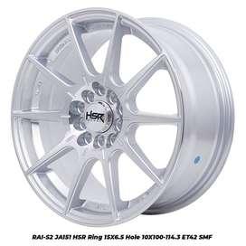 Pelek Ayla ring 15 tipe RAI-S2 JA151 HSR R15X65 H10X100-114,3 ET42 SMF