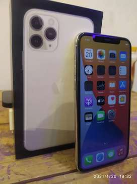 IPHONE 11 PRO 64Gb Warna SILVER SECOND MULUS LIKE NEW