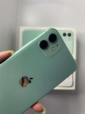 Iphone 11 128 gb green Fullset lengkap