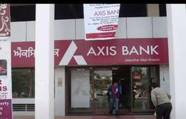 Need Male Candidate In Axis Bank On Roll Job