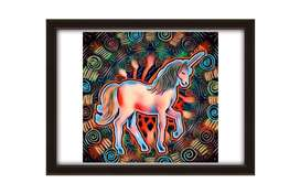 Trippy Poster frames with wooden frame brand new for wall decor