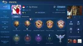 Akun Mobile Legend hero max emblem max. Akun buat turnamen.