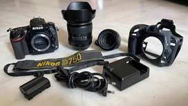 Nikon D750 24.3 DSLR 24-120mm and 50mm 1.8 Shutter 1 Lakh 2 Years Old