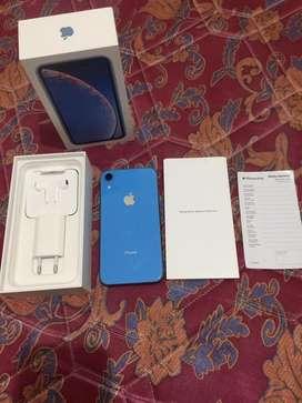 Iphone XR Xr 128 GB Blue Ex Garansi Resmi Ibox Erafome BH 95% Mulus