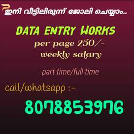 Simple data entry home based jobs..