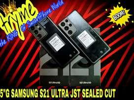 TRYME 5G 12GB/256GB SAMSUNG S21 ULTRA.Jst SEALED Cut Full Kit Box