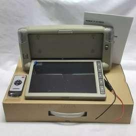 Tv Plafon mobil 9 inch Universal Model Oem Toyota Fortuner Merk Enigma