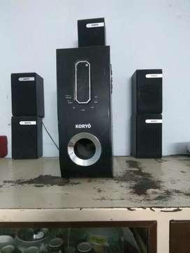 Woofer with 5 Speaker system