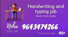 Handwriting work & story writing