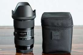 Sigma 18-35 f1.8 Art DC HSM lens for canon cameras