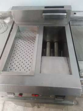 Fryer 2 tube with sizzling non magnet